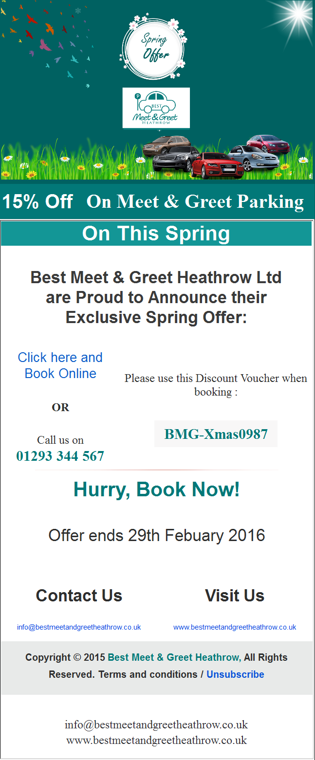 Spring Parking Discount 15 February 2016
