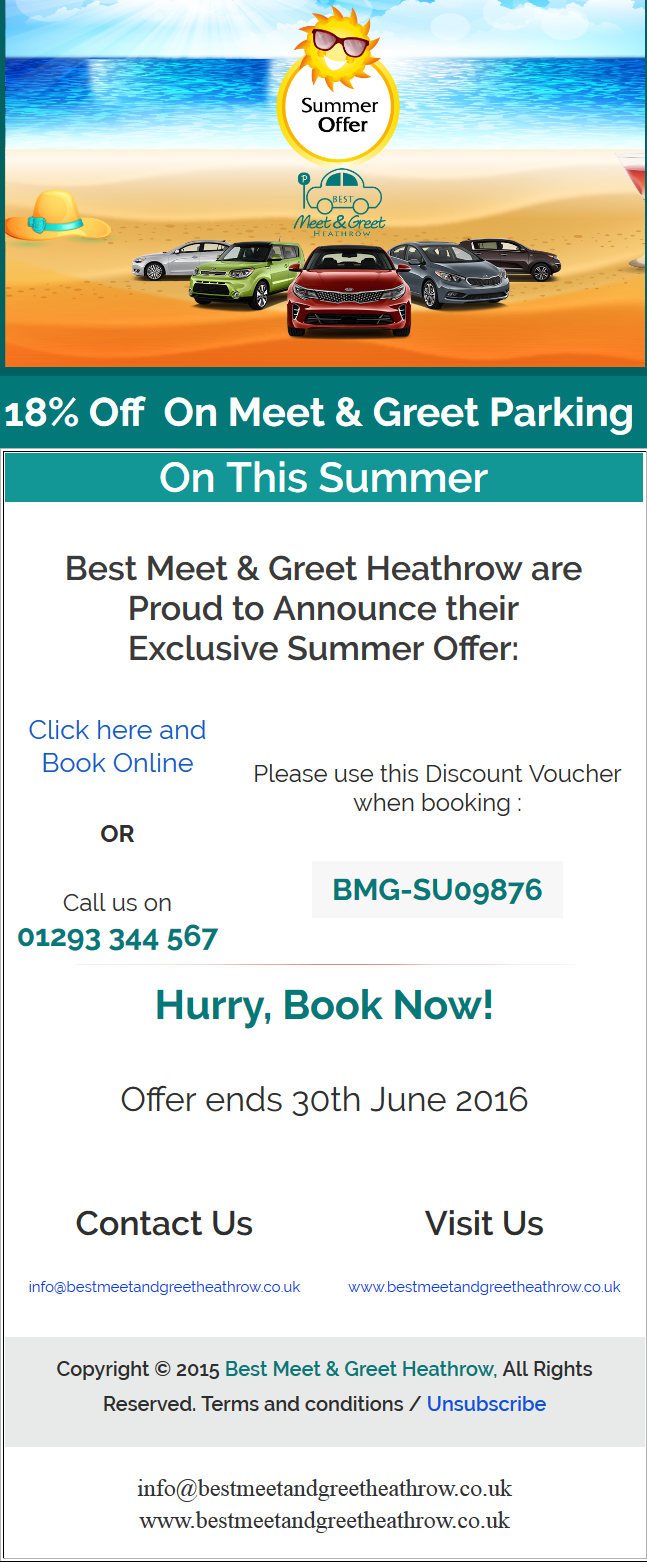Summer Discount on Meet and Greet Heathrow