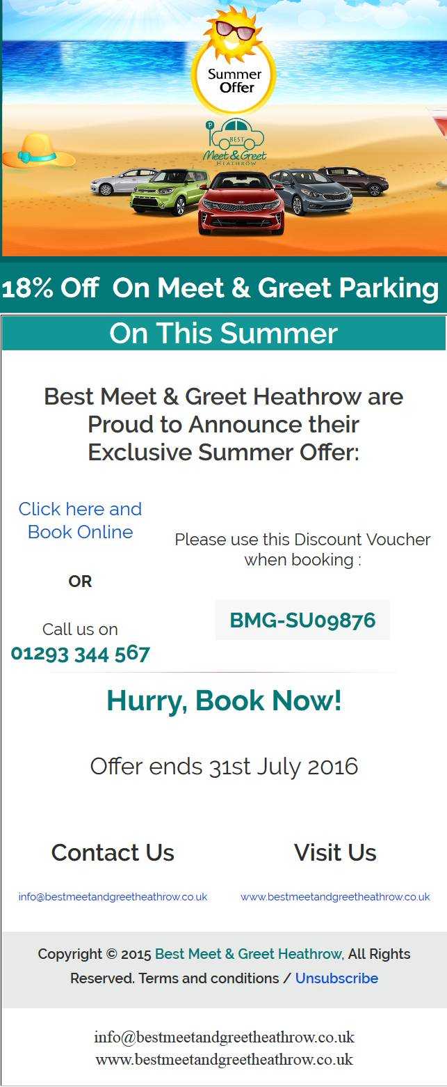 18% Discount On Meet And Greet Heathrow